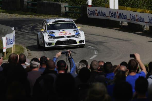 Andreas Mikkelsen (N), Ola Fløene (FIN)Volkswagen Polo R WRC (2014)WRC Rally France 2014