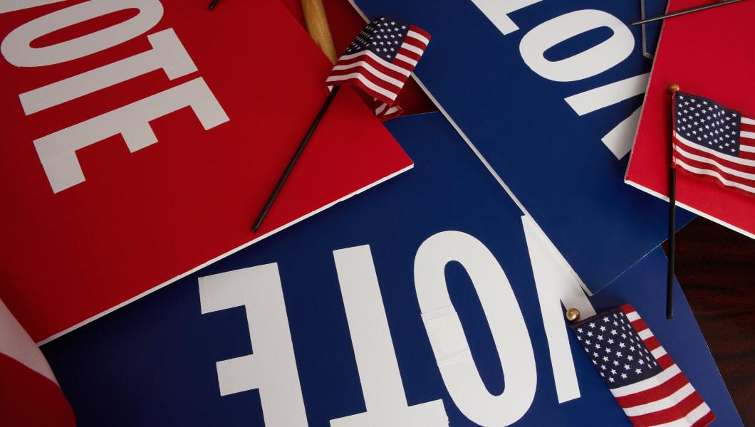 Vote signs