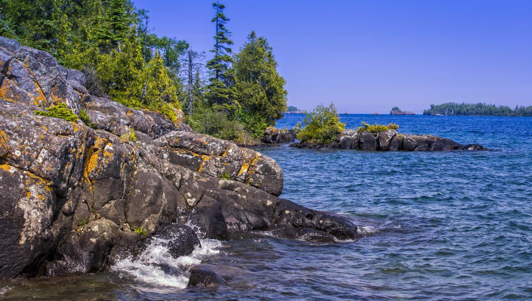 Lake Superior Shoreline, Isle Royale National Park, Michigan, USA