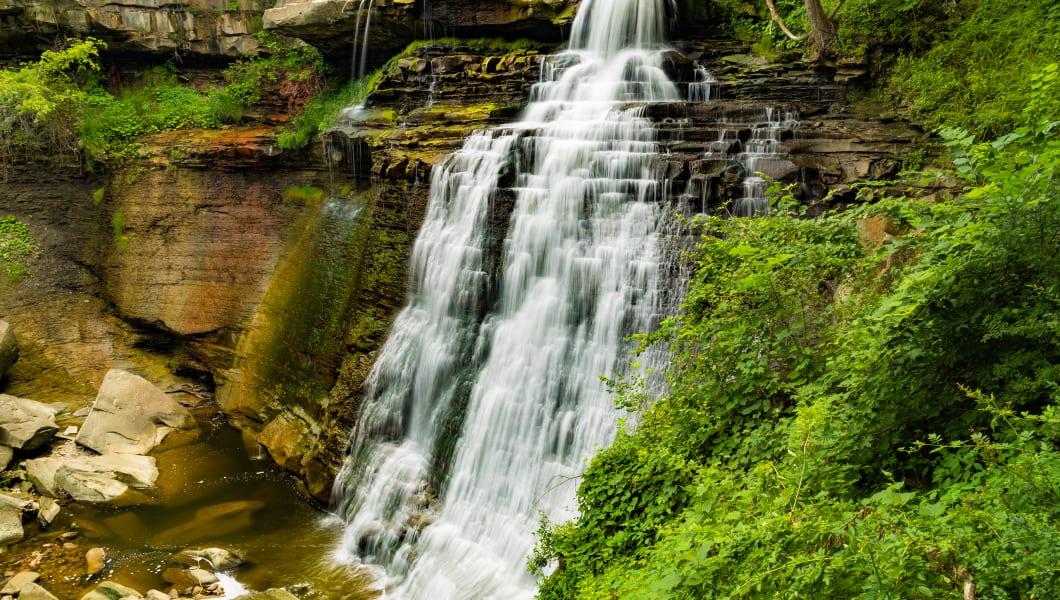 Beautiful Brandywine Falls in Cuyahoga National Park Ohio