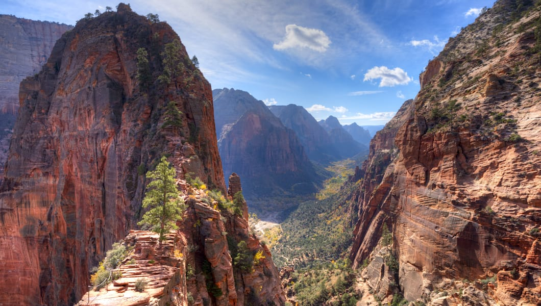 view of zion canyon from angels ...