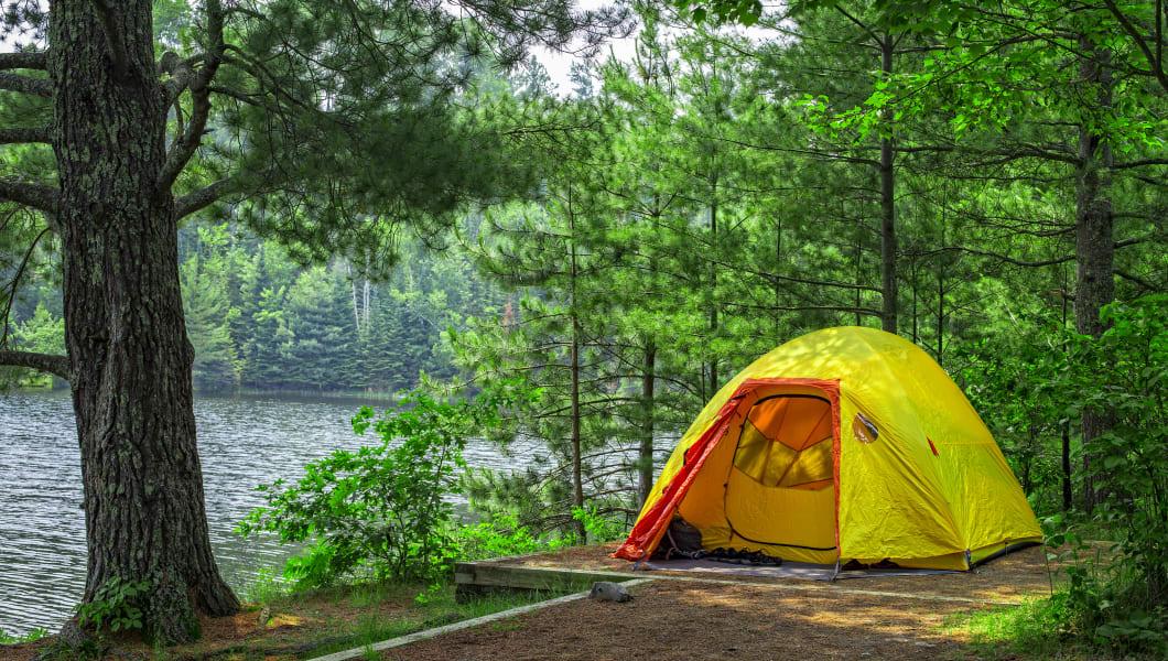 tent campsite  voyageurs...