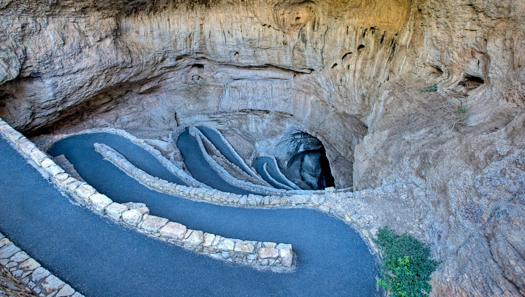 The Natural Entrance Switchbacks, Carlsbad Caverns, New Mexico