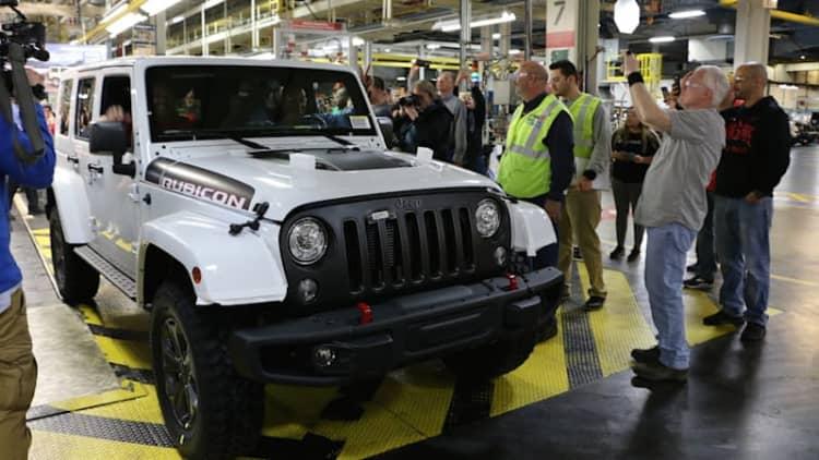 Last Jeep Wrangler JK rolls off the line in Toledo