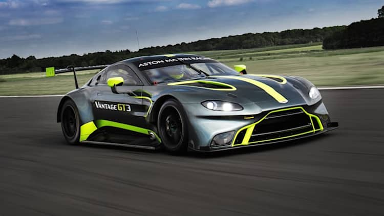 Aston Martin reveals new prototype Vantage GT3 race car at Le Mans