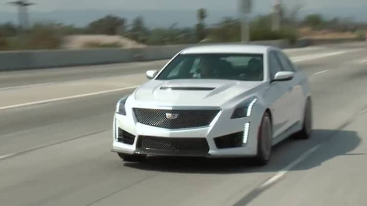 Jay Leno welcomes a 2016 Cadillac CTS-V into the garage