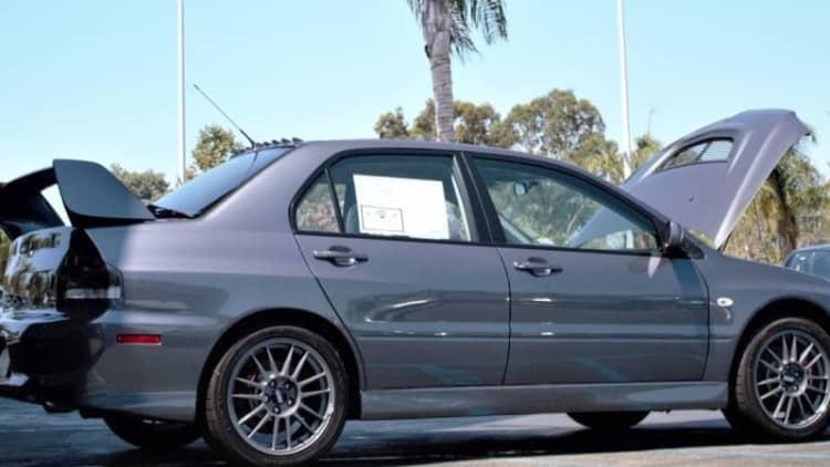 Pristine, time-traveling 2006 Mitsubishi Evo sells for $138K