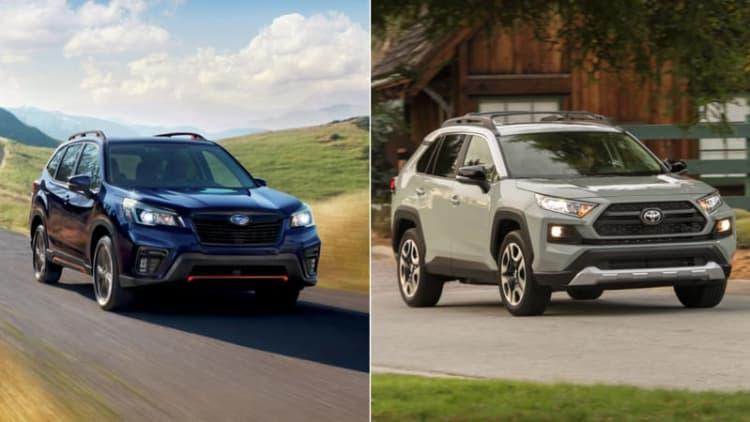 2019 Subaru Forester Sport vs 2019 Toyota RAV4 Adventure: How they compare