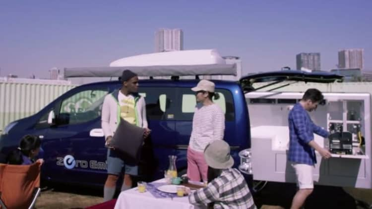 Nissan's Ultimate Smart BBQ e-NV200 is crowd-funded fun in Japan