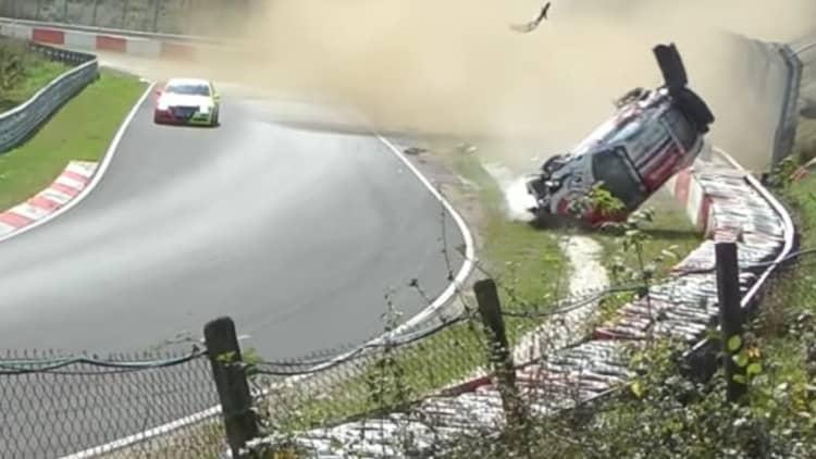 Porsche rolls endlessly at Nurburgring endurance race