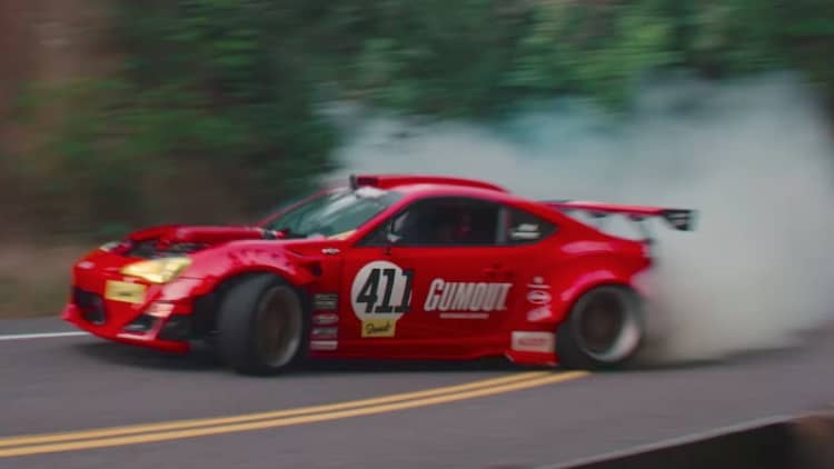 Ryan Tuerck's Ferrari-powered Scion drifts, crashes, fixes, and drifts again