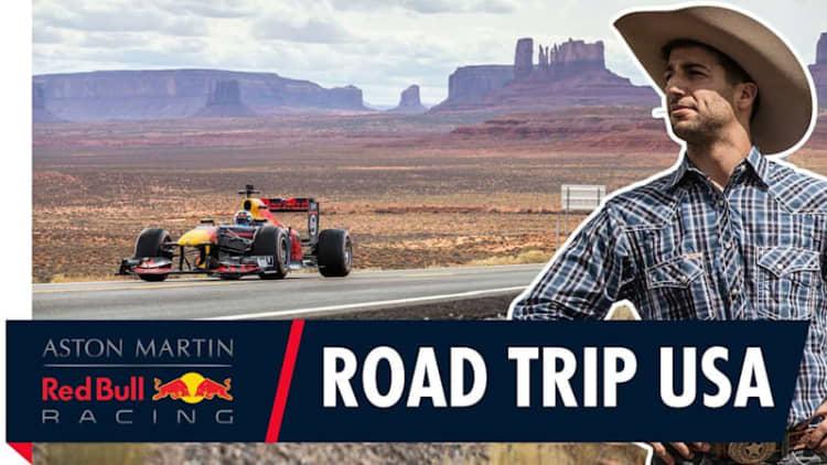 Red Bull Racing's Daniel Ricciardo is road-tripping across America