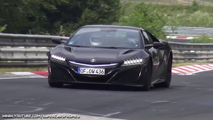 Watch two Acura NSXs scorch the Nurburgring