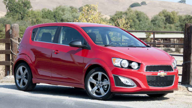 Chevy recalls 317k Sonic, Trax, and Spark over key chime