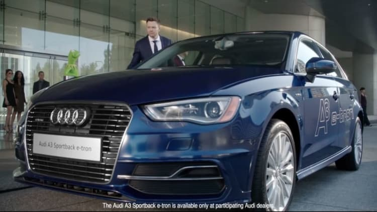 Audi A3 E-tron guest stars in Muppet video for Emmys