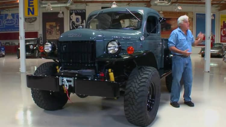 Jay Leno checks out restomod WWII vet Dodge Power Wagon