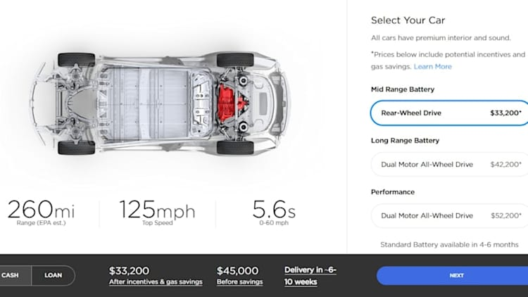 Tesla launches new $45,000 Model 3 as tax break is about to fade