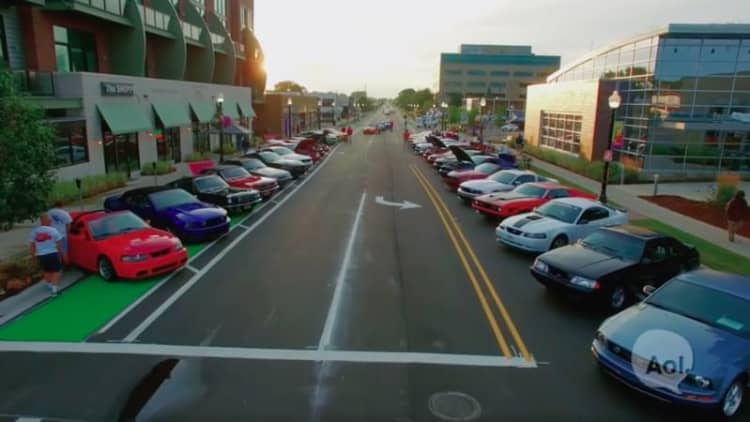 Mustang Alley is where to corral your pony at the Woodward Dream Cruise