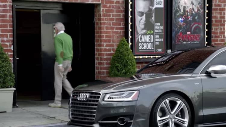 Audi S8 makes cameo in commercial about cameos with Stan Lee