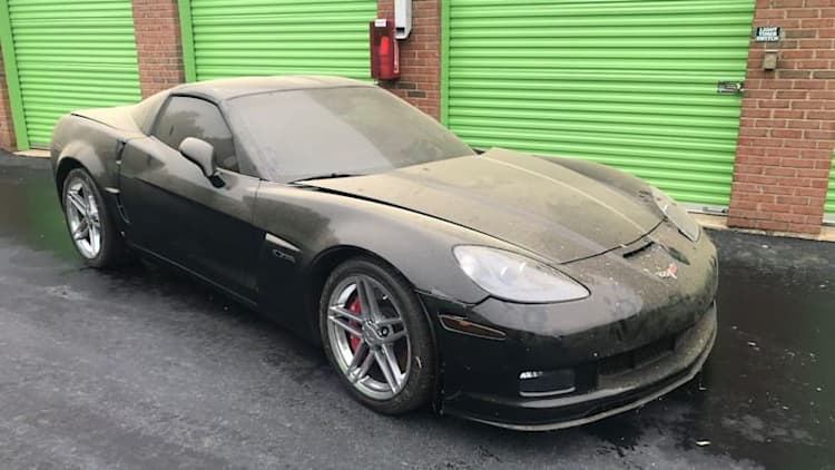 Forgotten 720-mile 2009 Corvette Z06 emerges from storage