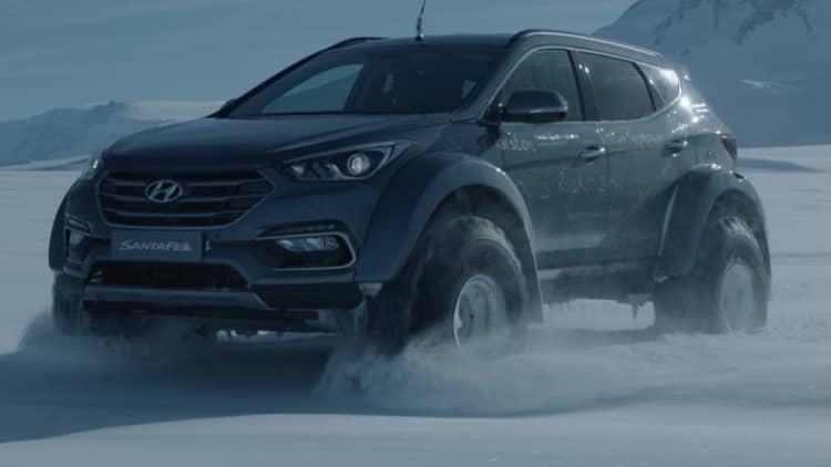 Hyundai built an awesome Santa Fe to cross the Antarctic