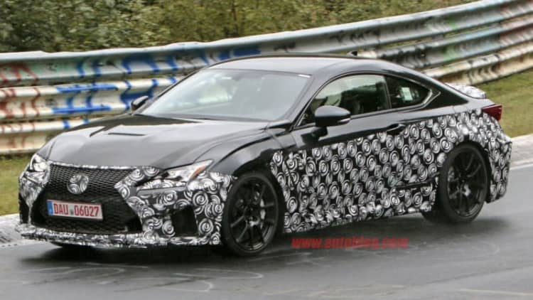 Sportier version of a Lexus RC F spotted at Nurburgring