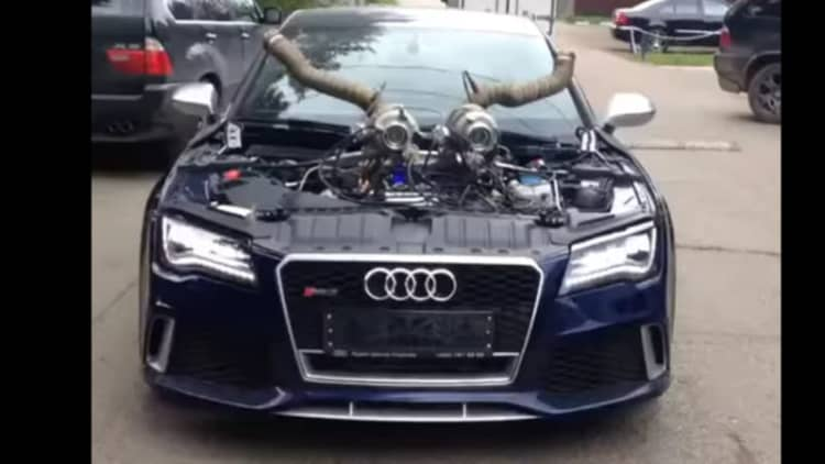 Who doesn't want an Audi RS7 with turbo horns?