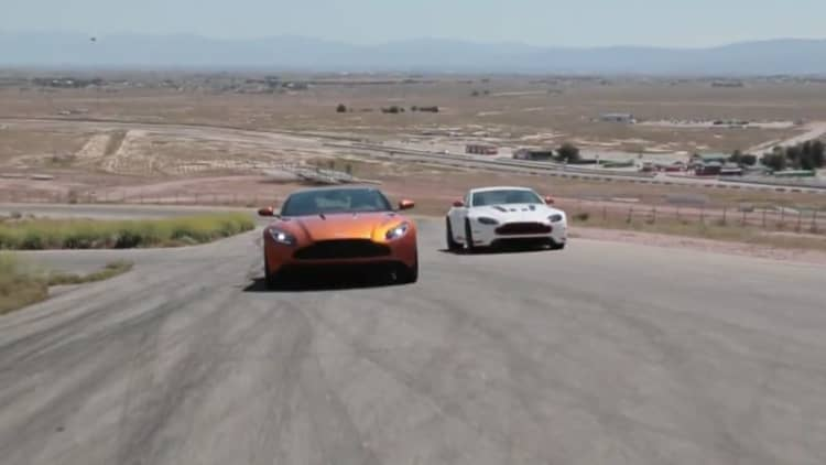 Jay Leno, Ex-Stig test Aston Martin's latest cars
