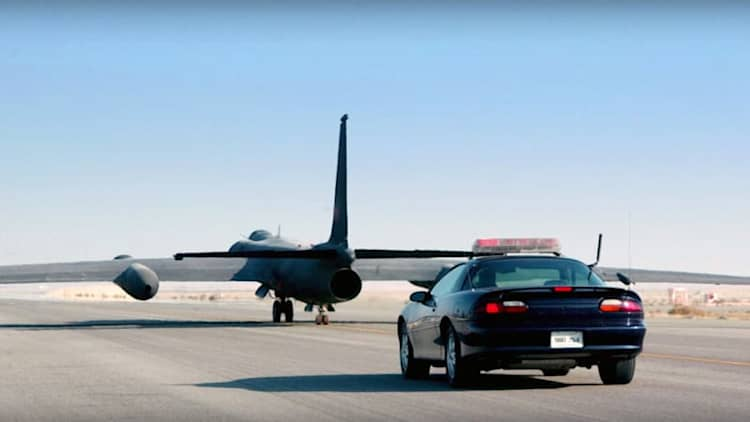 The U-2 spy plane needs high-performance cars to help land