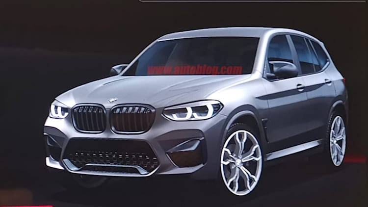 2020 BMW X3 M revealed in infotainment spy shots