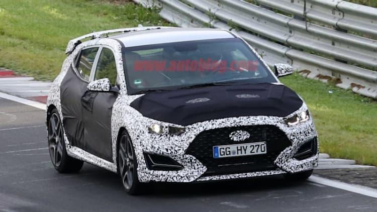 Hyundai Veloster N reveals menacing grille, big wing