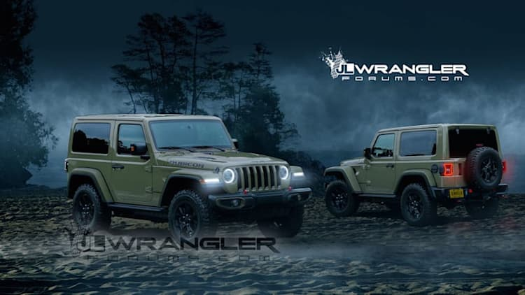 Here are the latest renderings of the new JL Jeep Wrangler
