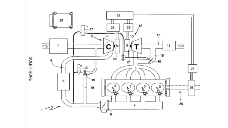 Ferrari patents a fancy and fascinating electric turbocharger