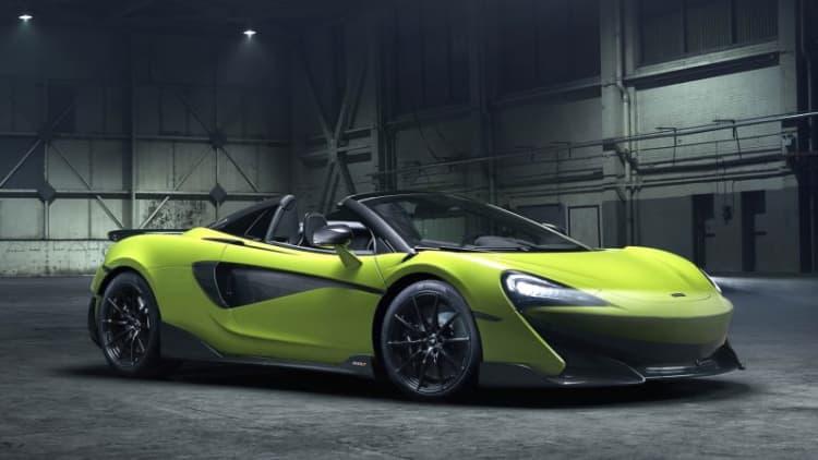 McLaren 600LT Spider revealed: Top-down performance