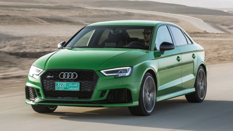The 2018 Audi RS3 sedan priced above the BMW M2 and Mercedes CLA45 AMG