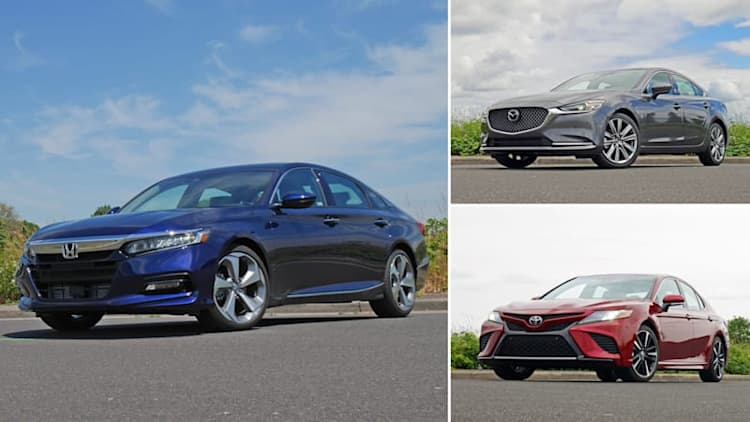 Midsize Sedan Comparison | Honda Accord vs. Toyota Camry vs. Mazda6