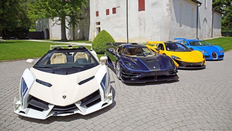 Veneno Roadster, One:1, One-77, LaFerrari, P1, Veyron headline 25-car Bonham's auction