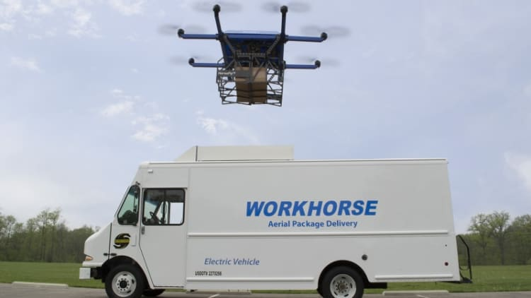 Workhorse begins HorseFly autonomous drone package deliveries