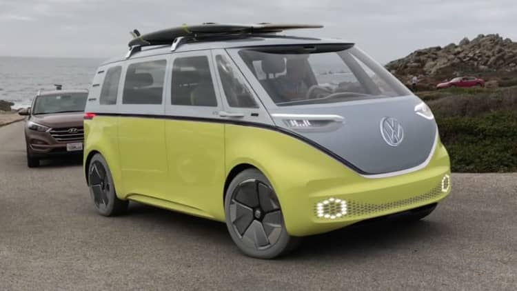 VW I.D. Buzz microbus caught driving at Pebble Beach