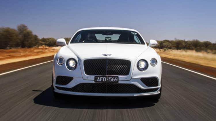 Watch a Bentley Continental GT Speed hit 206 mph in Australia