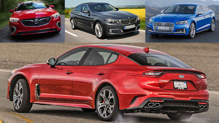 2018 Kia Stinger vs. other luxury hatchbacks compared by the numbers