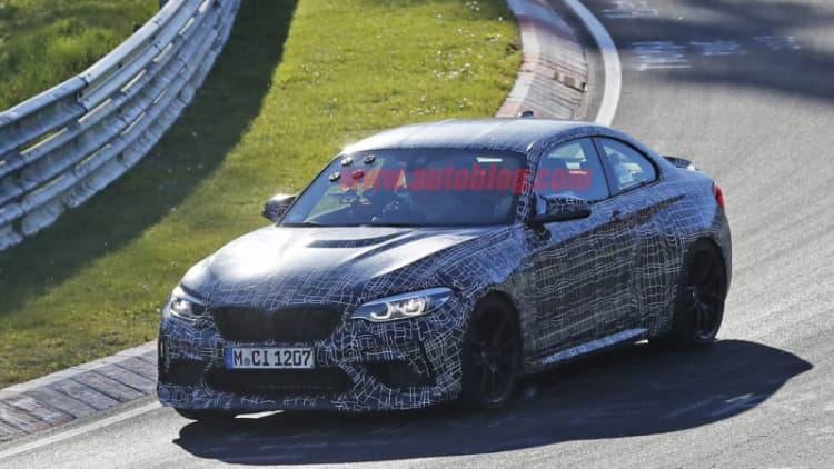 2020 BMW M2 CS spied at the Nurburgring