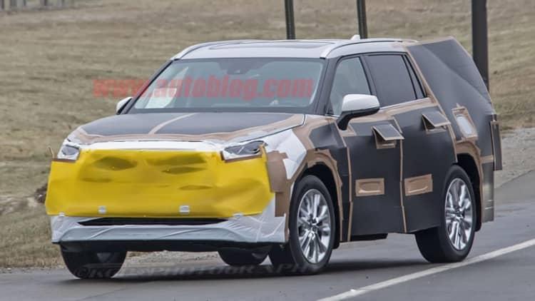 Redesigned Toyota Highlander looks like a big RAV4