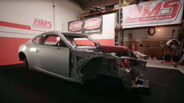 Behold the mad genius of the Ferrari-powered Toyota 86