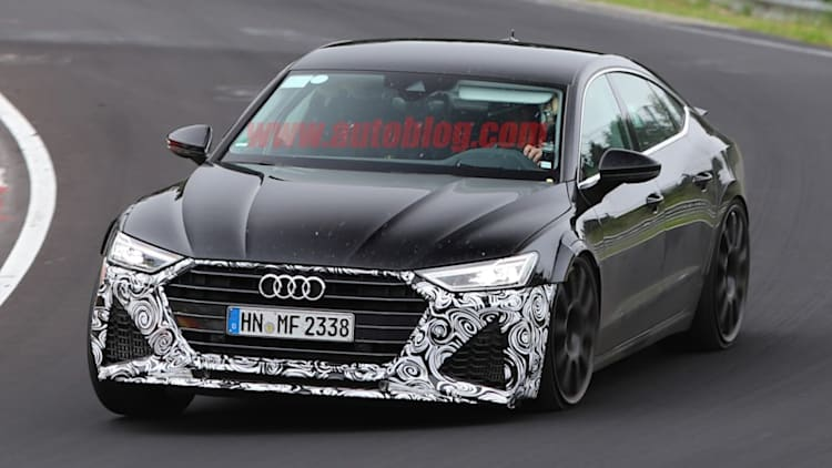 Audi RS7 spied with distinct fascia and fat fenders