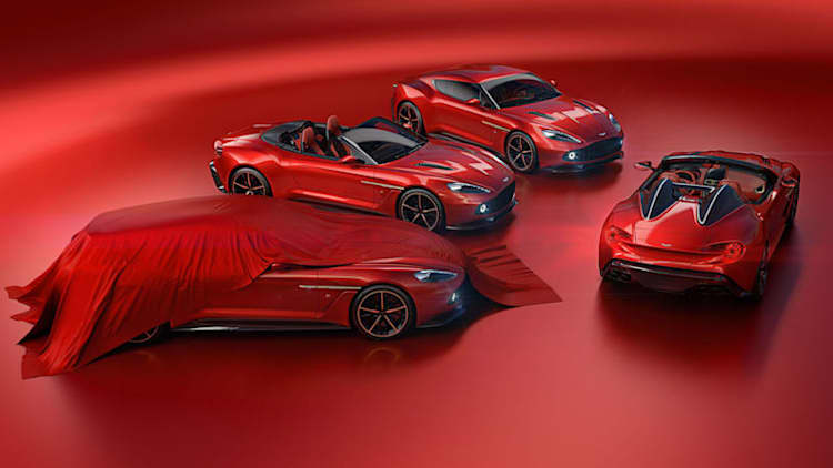 Four Vanquish Zagatos go to one buyer with the most beautiful garage ever