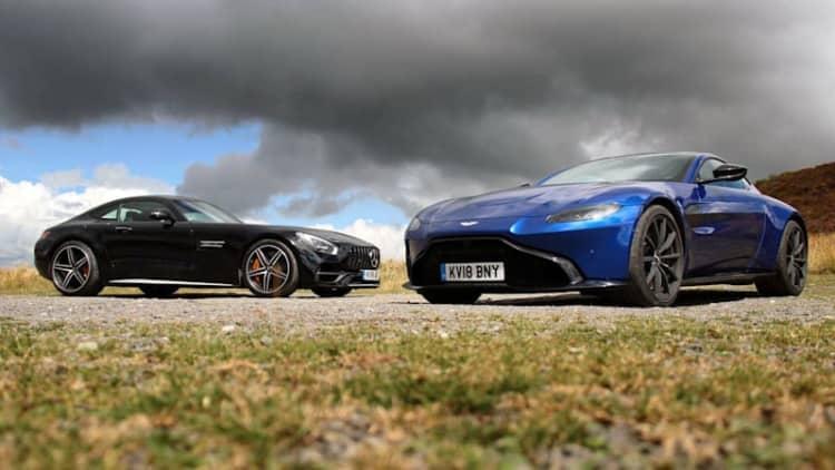 Aston Martin Vantage vs. Mercedes-AMG GT C Review | Translating German into English
