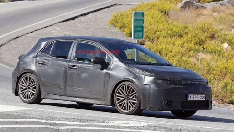 Next-generation Toyota Corolla iM spotting testing on mountain roads