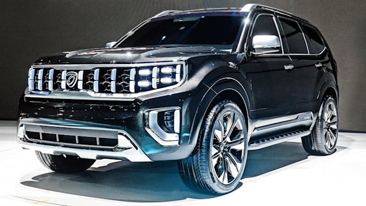 Kia Mohave Masterpiece Concept debuts evolutionary Tiger Nose grille