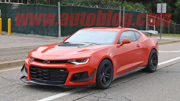 2019 Chevy Camaro ZL1 1LE spied completely undisguised